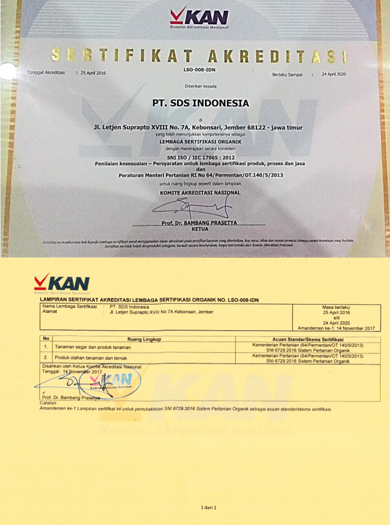 Akreditasi – SDS Indonesia | Sustainable Development Services